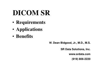 DICOM SR
