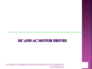 DC and AC Motor Drives