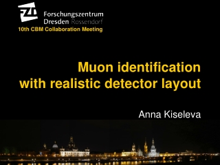 Muon identification  with realistic detector layout