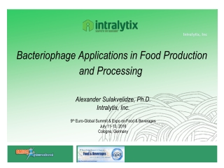 Bacteriophage Applications in Food Production and Processing