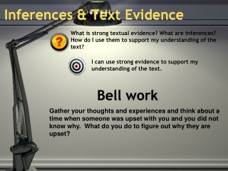 Inferences & Text Evidence