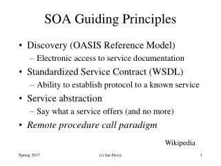 SOA Guiding Principles