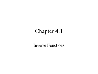 Chapter 4.1