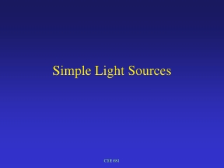 Simple Light Sources