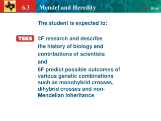 The student is expected to: 3F research and describe the history of biology and