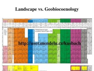 Landscape vs. Geobiocoenology