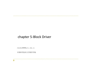 chapter  5- Block Driver