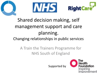 A Train the Trainers Programme for NHS South of England