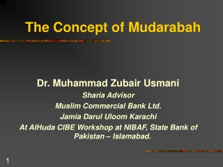 The Concept of Mudarabah