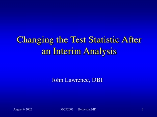 Changing the Test Statistic After an Interim Analysis