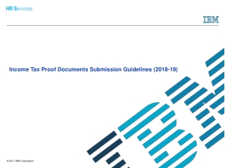 Income Tax Proof Documents Submission Guidelines (2018-19)
