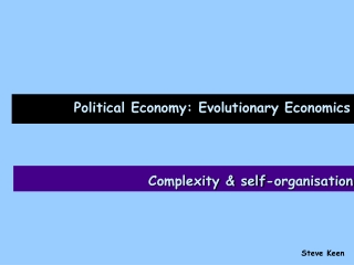 Political Economy: Evolutionary Economics