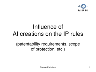 Influence of  AI creations on the IP rules