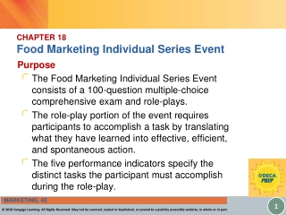 CHAPTER 18 Food Marketing Individual Series Event
