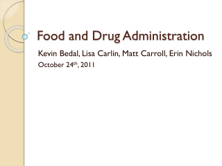 Kevin  Bedal , Lisa Carlin, Matt Carroll, Erin Nichols October 24 th , 2011