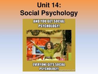 Unit 14: Social Psychology