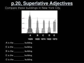 p.20, Superlative Adjectives
