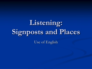 Listening: Signposts and Places