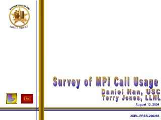 Survey of MPI Call Usage