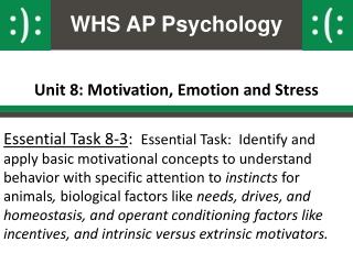 Unit 8: Motivation, Emotion and Stress
