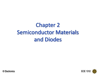 Chapter 2 Semiconductor Materials and Diodes