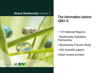 The information behind GBO-3:  110 National Reports   Biodiversity Indicators Partnership