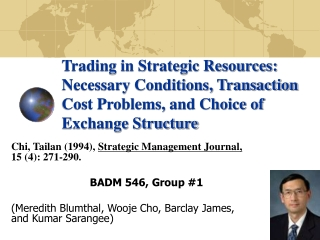 Chi, Tailan (1994),  Strategic Management Journal,             15 (4): 271-290.