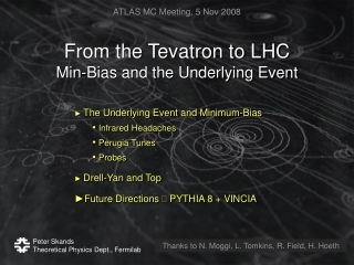 From the Tevatron to LHC Min-Bias and the Underlying Event