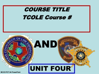 BCCO PCT #4 PowerPoint