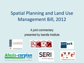 Spatial Planning and Land Use Management Bill, 2012