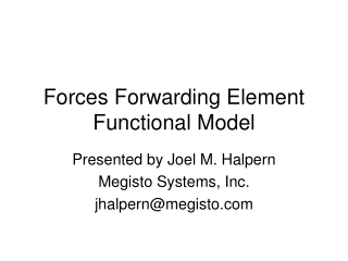 Forces Forwarding Element Functional Model