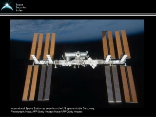 International Space Station as seen from the US space shuttle Discovery.