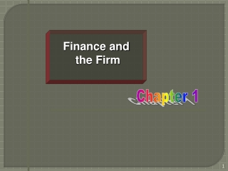 Finance and  the Firm