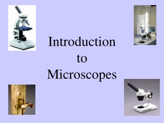 Introduction to Microscopes