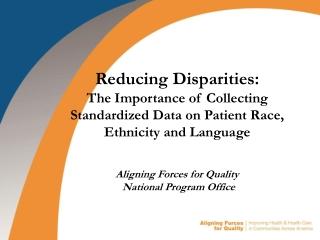 Reducing Disparities: