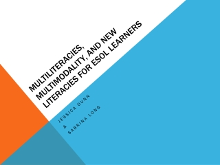 Multiliteracies, Multimodality, and New Literacies for ESOL Learners