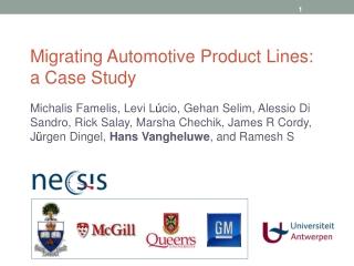 Migrating Automotive Product Lines:  a Case Study