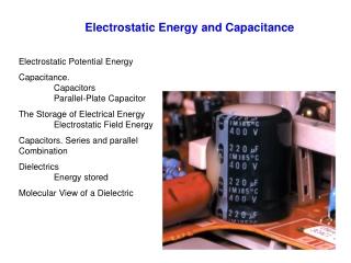 Electrostatic Energy and Capacitance