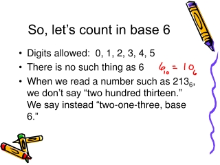 So, let's count in base 6