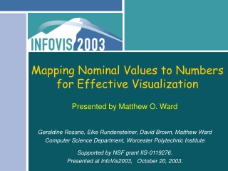 Mapping Nominal Values to Numbers  for Effective Visualization
