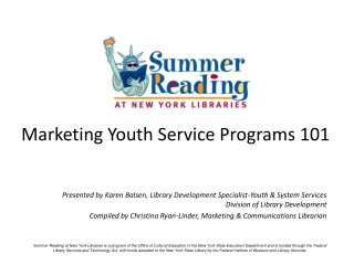 Marketing Youth Service Programs 101