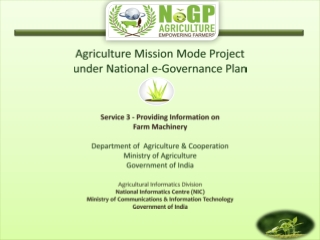 Agriculture Mission Mode Project  under National e-Governance Plan