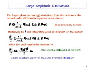 Large Amplitude Oscillations