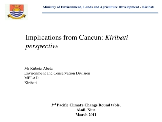 Ministry of Environment, Lands and Agriculture Development - Kiribati