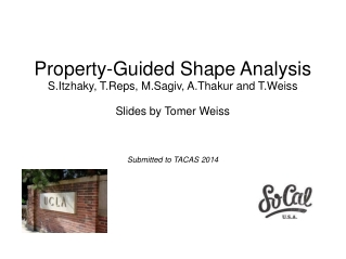 Property-Guided Shape Analysis