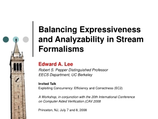 Balancing Expressiveness and Analyzability in Stream Formalisms