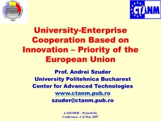 University-Enterprise Cooperation Based on Innovation – Priority of the European Union