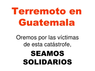 Fundraising for earthquake victims in Guatemala