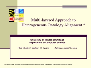 Multi-layered Approach to Heterogeneous Ontology Alignment *