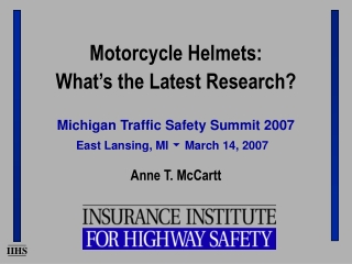 Michigan Traffic Safety Summit 2007